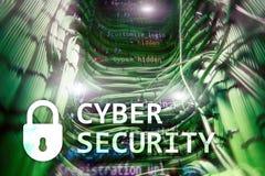 Sicurezza cyber, protezione dei dati, segretezza di informazioni Concetto di tecnologia e di Internet immagini stock libere da diritti
