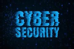 Sicurezza cyber Protezione delle informazioni Crimine su Internet Immagini Stock