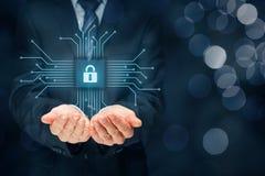 Sicurezza dei dispositivi dell'IT fotografia stock libera da diritti