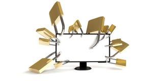 Sicurezza dei vostri dati Immagini Stock