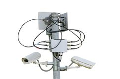 Sicurezza del CCTV Fotografia Stock Libera da Diritti