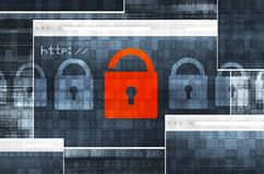Sicurezza del collegamento a Internet Fotografia Stock Libera da Diritti