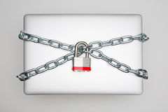 Sicurezza del computer portatile fotografia stock libera da diritti