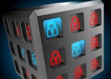 Sicurezza del fondo dei sistemi di informazione Fotografia Stock Libera da Diritti