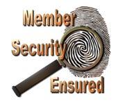 Sicurezza del membro assicurata Fotografia Stock