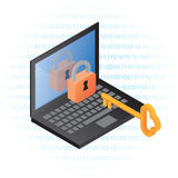 Sicurezza dell'informazione del calcolatore Illustrazione di Stock
