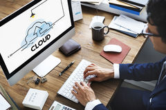 Sicurezza dell'informazione di stoccaggio della nuvola immagine stock libera da diritti