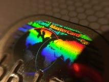 Sicurezza dell'ologramma del Master Card Fotografia Stock