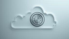 Sicurezza della nuvola Fotografia Stock Libera da Diritti