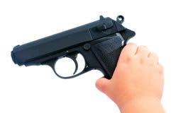 Sicurezza della pistola Immagini Stock Libere da Diritti