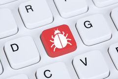 Sicurezza della rete del Trojan o del virus informatico su Internet Fotografie Stock Libere da Diritti