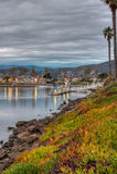 Sicurezza delle acque della baia del porto Fotografia Stock