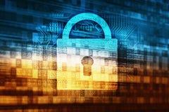 Sicurezza di dati di parola d'ordine illustrazione di stock