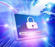 Sicurezza di Internet Fotografie Stock Libere da Diritti