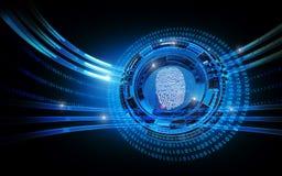 Sicurezza di ricerca dell'impronta digitale Immagine Stock Libera da Diritti