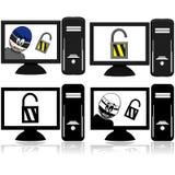 Sicurezza informatica illustrazione vettoriale