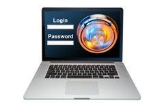 Sicurezza informatica dai pirati informatici, isolati fotografia stock libera da diritti