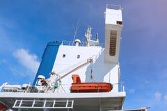 Sicurezza Liftboat sulla nave della piattaforma Immagini Stock
