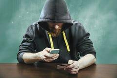 Sicurezza mobile di pagamento fotografia stock libera da diritti