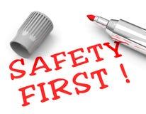 Sicurezza prima Fotografia Stock