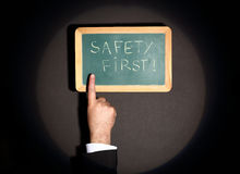 Sicurezza prima Immagini Stock Libere da Diritti