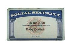 Sicurezza sociale del figlio del baby boom fotografie stock