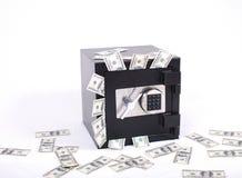 Sicuro in pieno di soldi Immagine Stock Libera da Diritti