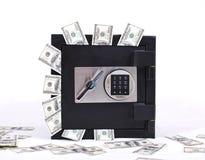 Sicuro in pieno di soldi Fotografia Stock