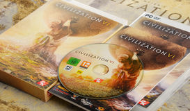Sid Meier's Civilization VI computer strategy game. POZNAN, POLAND - MAR 8, 2017: Sid Meier's Civilization VI is a computer strategy game developed by Firaxis Royalty Free Stock Image