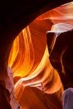 sida övreUSA för antiloparizona kanjon Royaltyfria Bilder