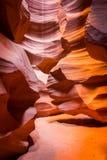 sida övreUSA för antiloparizona kanjon Royaltyfri Foto