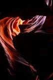 sida övreUSA för antiloparizona kanjon Arkivbild