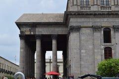 Sida av den Degollado teatern, Guadalajara Arkivfoto