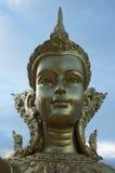 Sida av den guld- gudinnan på dagen Arkivbild