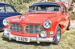 Sida av den klassiska bilen i rött Arkivbilder