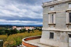 Sida av den kungliga slotten, Madrid, Spanien Royaltyfri Foto