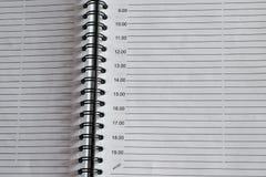 Sida av en notepad med cirklarna arkivbild