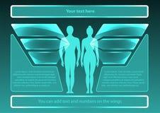 Sida 2 av 8 Modell för infographic Arkivfoto