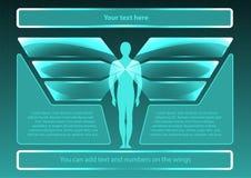 Sida 1 av 8 Modell för infographic Arkivbilder