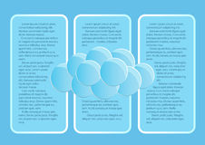 Sida 3 av 5 Modellen med för slutabstrakt begrepp för blå himmel rundan fördunklar Royaltyfri Fotografi