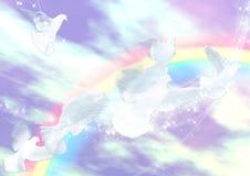 Sida av regnbågen Royaltyfri Fotografi