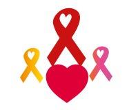 SIDA de rubans Photos stock