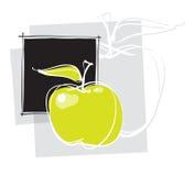 sida för äpplesymbolsorientering vektor illustrationer