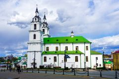 Sida för domkyrka Minsk för helig ande royaltyfri fotografi