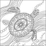 Sida för färgläggning för havssköldpadda Arkivfoton