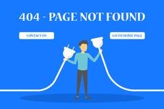 sida för 404 fel att inte grunda banret för website royaltyfri illustrationer