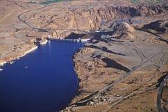 sida för glen för arizona kanjonfördämning Arkivfoto