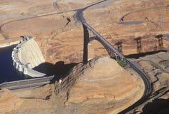 sida för glen för arizona kanjonfördämning arkivfoton