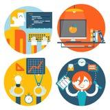 Sida för internet för begrepp för rengöringsdukstudioarbetsplats vektor illustrationer