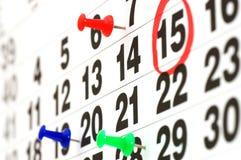 sida för kalenderdatum som i dag visar Royaltyfri Bild